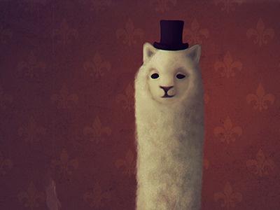 Lord Alpacington the Third alpaca lord gentleman suit portrait