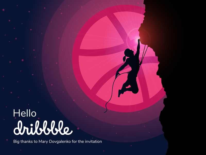 Hello, Dribbble! hello dribbble uidesign dribble invite dribbble debut illustrations goal first shot dribbble