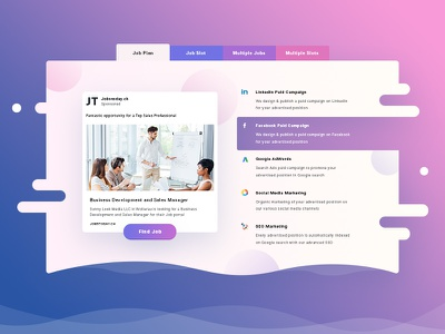 JobsToday purple design web ui social