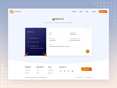 Retrospective web-design ux ui orange design web contact us form contact form contact