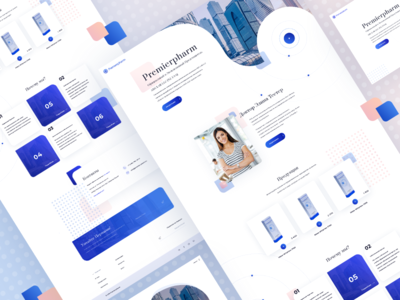 Premierpharm subscribe footer moscow store cosmetology cosmetic russian light landing web design design web ux ui