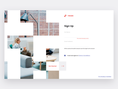 Tirade light web design design web ux ui