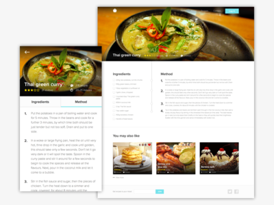 Recipe website by joseph williams dribbble recipe website forumfinder Gallery