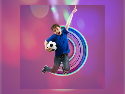 jump smile smiley smiley face colorful poster design poster art poster children boy smile