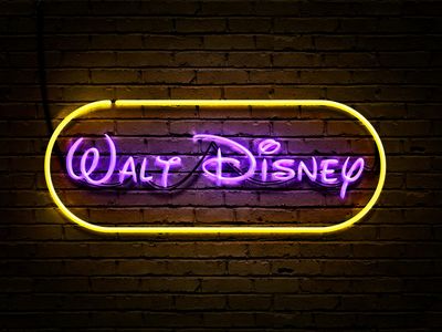 My first neon sign banner light photoshop sign disney neon sign