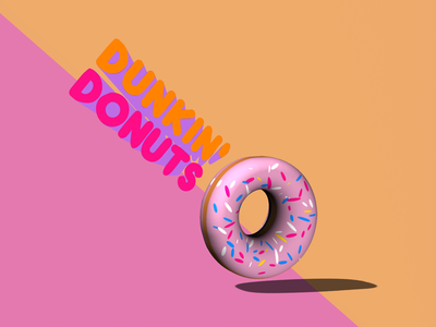 3D Dunkin' Donuts graphic design dunkin donuts donuts photoshop 3d