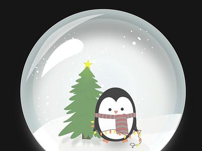 Christmas Illustration snowball adobe illustrator merry christmas penguin illustration