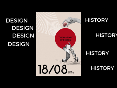 Design history course poster avant- garde adobe photoshop graphic design collage poster history gesign