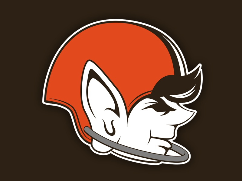 Browns Logo Redesign browns brownie nfl cleveland logo redesign mascot