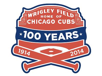 Wrigley Field 100 Logo wrigley baseball cubs chicago logo anniversary