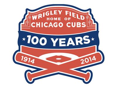 Wrigley Field 100 Logo