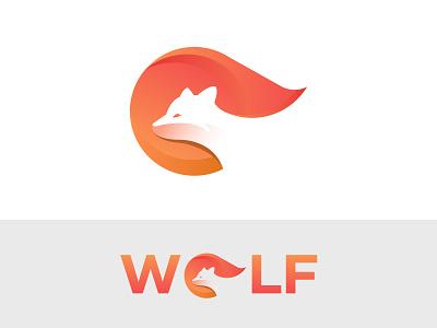 Wolf Logo Design (FOR SALE) animation graphic design wild werewolf howl wolves fire fox o logo animal logo illustration vector logo design corporate logo colorful logo wolf logo wolf branding design branding