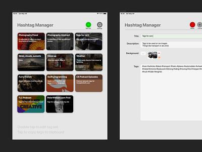 Hashtag Manager v1 0 layout mobile app design ui design