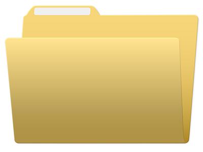 Yellow Folder Icon icon design