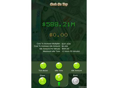 CashOnTap Mobile Game Version 1.1 ui design game app mobile app design