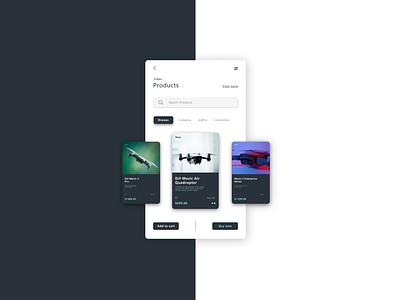 Minimalist drone shop design figma design figmadesign figma ecommerce drone application app website website design web design webdesign app design ux  ui uxui ux ui