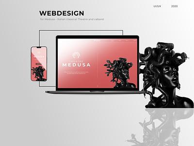 Medusa - Personal Website figma design figma website design website web design webdesign ux  ui uxui ux ui