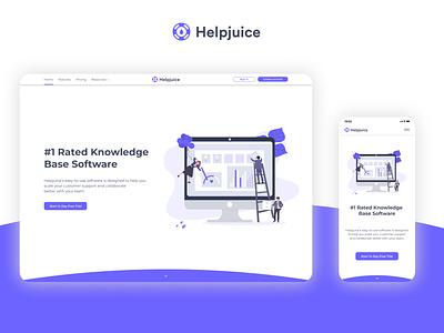 Helpjuice - Landing Page Redesign figma design website design website webdesign web design figma uxui ux  ui redesign landing page landingpage