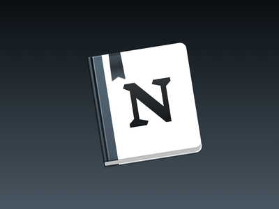 Notion app icon replacement icon rebrand app store icon app store macos icon macos theme notes app ui vector icon notes notion