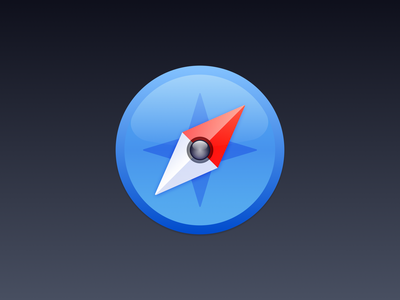 Safari chrome web browser compass safari app store icon app icon macos icon macos theme ui vector icon