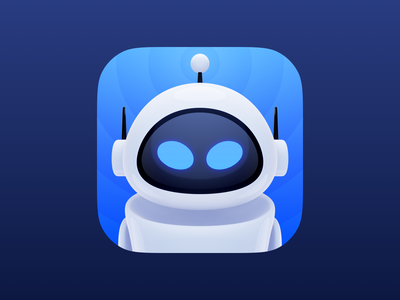 EVE Apollo Icon robot apollo app ios app icon theme iphone ui walle eve reddit c4d blender 3d render icon
