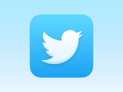 Twitter ios app icon icon twitter big sur ios14 icon ios14 vector ui logo theme icons replacement replacement icon
