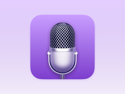 Podcasts ios icon app store icon replacement realism skeuomorphic skeuomorphism microphone podcasts ios14 texture icons theme iphone sketch ui vector icon