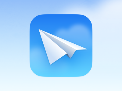 Mail Icon main realistic realism skeuomorphism skeuomorphic clouds app icon ios icon email envelope airplane paper airplane mail texture icons theme iphone ui vector icon