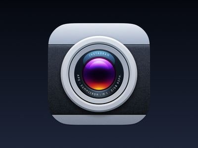 Leicagram ios icon app icon realism realistic skeuomorphism skeuomorphic photography film leica instagram camera icons theme iphone ui vector icon