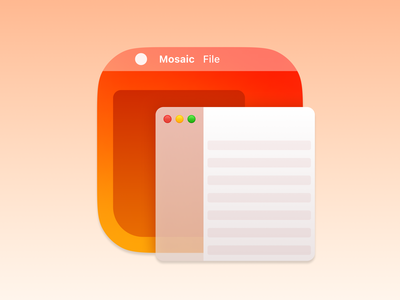 Mosaic App Icon big sur macos big sur macos app mac management window mosaic branding icons ui vector icon