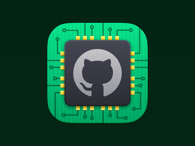 GitHub G1 Chip octocat developer tools developer github app icon app ios logo ui vector icon