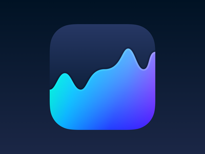 Stocketa gradient glow iridescent app icon stocks stock app ios process logo icons iphone sketch ui vector icon