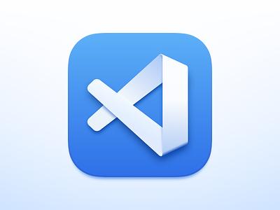 VS Code Icon big sur replacement icon ide vs code visual studio code blender 3d code logo design theme sketch ui vector icon