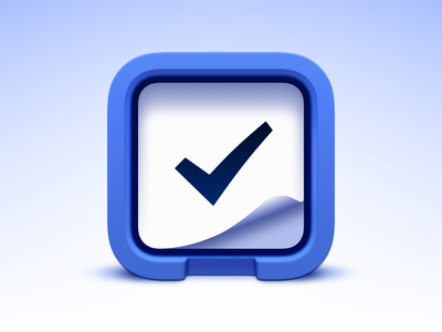 Things Icon 3d blender 3d icon big sur icon big sur app icon task manager productivity things check mark todo logo theme sketch ui vector icon