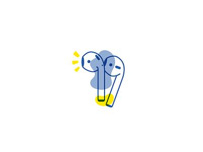 AirPods design illustration ui apple icon sketch blob design illustration apple headphones airpods airpod