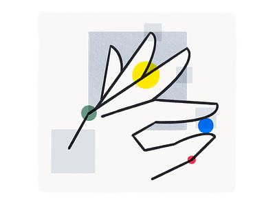 Pinch 02 ui illustration minimal abstract procreate ipad hand pinch gesture print sketch brush
