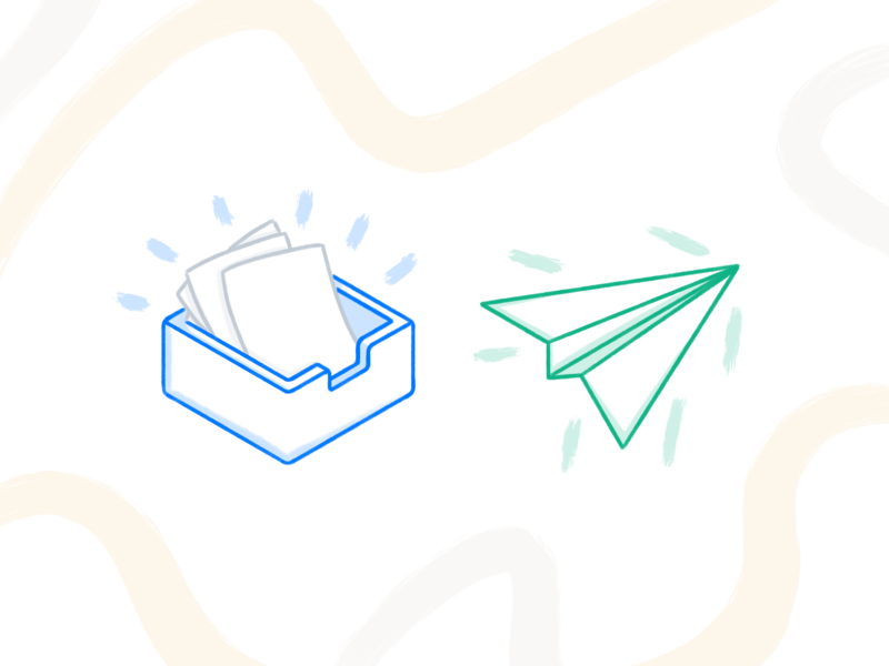 Spot Illustrations texture brush spot illustration ux ui design illustration illustration isometric abstract paper airplane send mail paper to do inbox