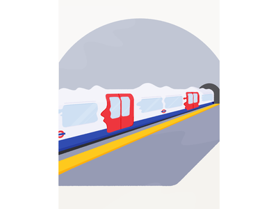 Underground vector abstract texture motion train print procreate illustration subway tube underground london