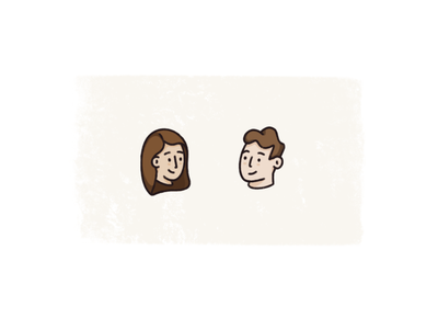 Heads avatar head procreate characters illustration vector sketch texture process design editorial spot illustration design illustration character human figure illo