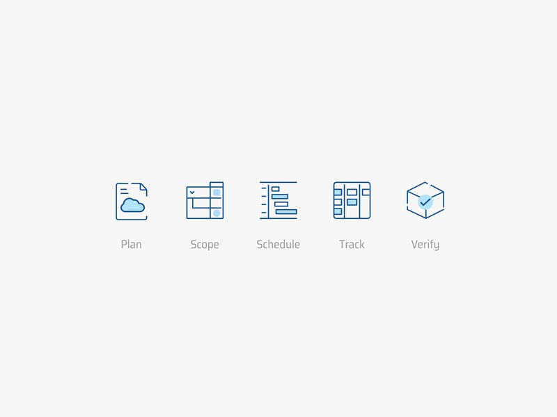 Icon design for the Plannerly app icon vector bim
