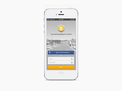 Beelancer App ux mobile logo ui