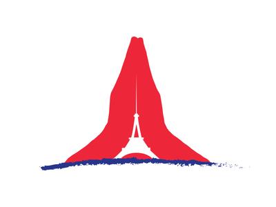 Pray For Paris peace logo identity