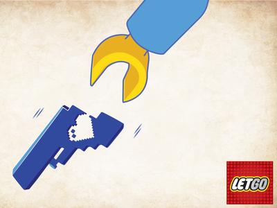 Let go stop violence gun illustration