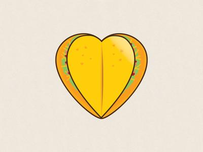 I Love Taco Logo illustrator vector food taco logo design