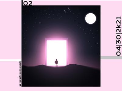 art 02 pinky pink green graphic graphicdesign photoshop 2d animation 2021 trend 2021 design design illustration cared 2020 trend graphic design art article artwork artist 2d art