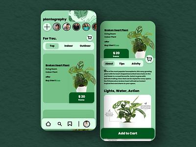 plantgraphy UI/UX -Shan Chaudhary app app design application color design font figma flower graphic design green homepage mobile app minimal mobile mobile ui nature product ui ui design ux