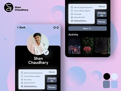 User profile by shan design cared color 2021 design app design application v figma minimal mobile app product ui ui design ux