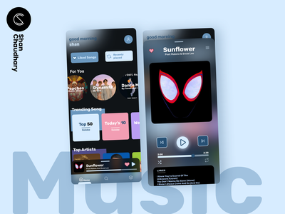 Music Player - by shan daily ui music player music vector graphic design app app design application color design figma homepage mobile app homepage minimal mobile ui ui design ux ui