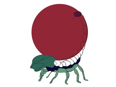 Scorpio lineart zodiac sign zodiac scorpion scorpio minimal lineart illustrator illustration design colorful