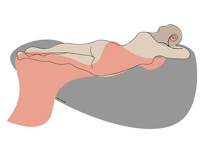 Virgo lineart women virgo minimal lineart illustrator illustration design colorful